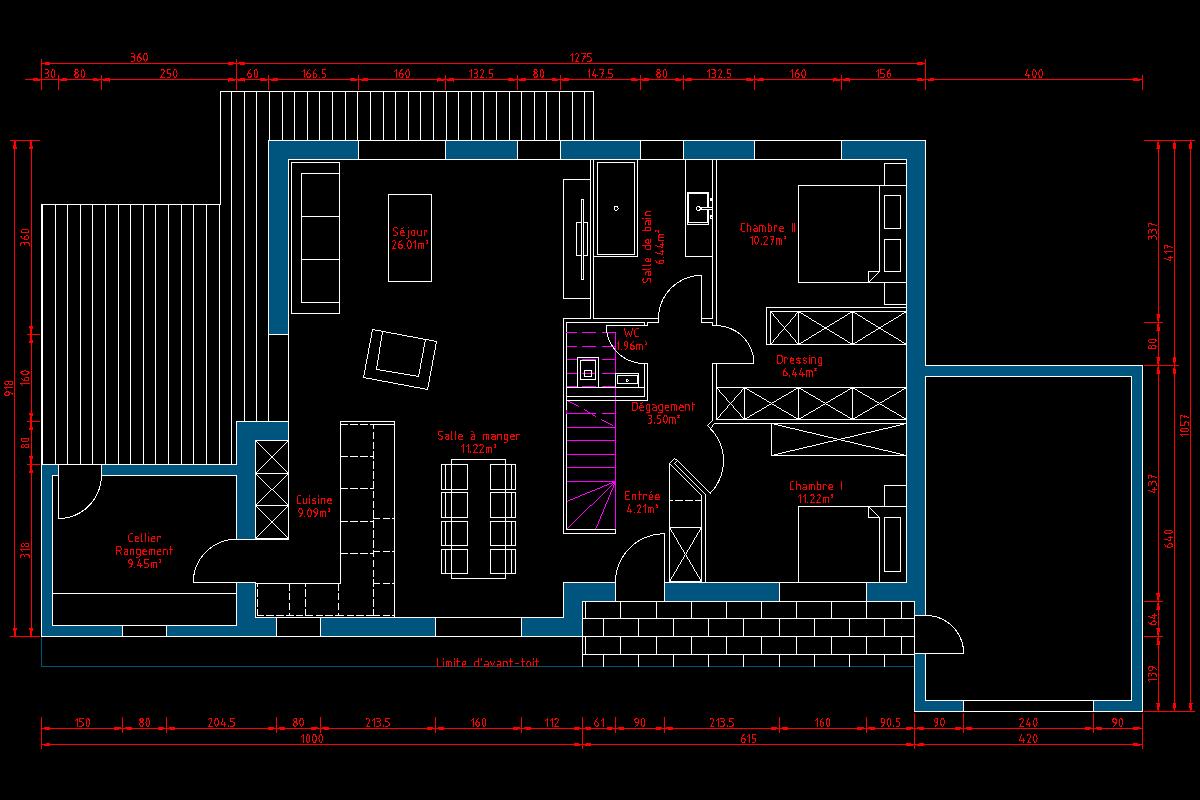 Ou placer la salle de bain 37 messages page 2 for Je veux concevoir mon propre plan de maison